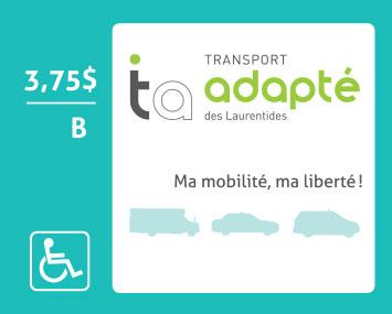 transport adapté Laurentides titres