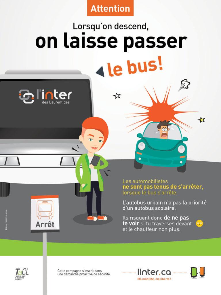 Campagne sécurité étudiant autobus