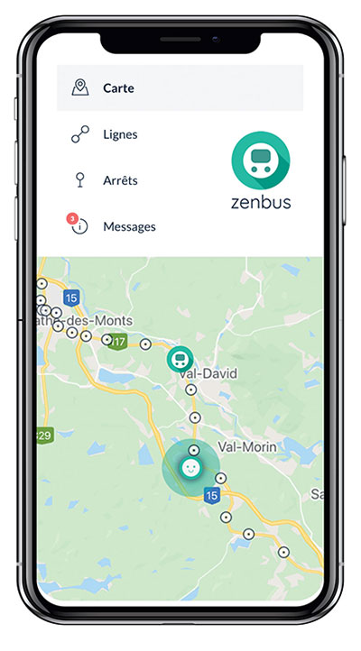 application Zenbus l'inter des laurentides